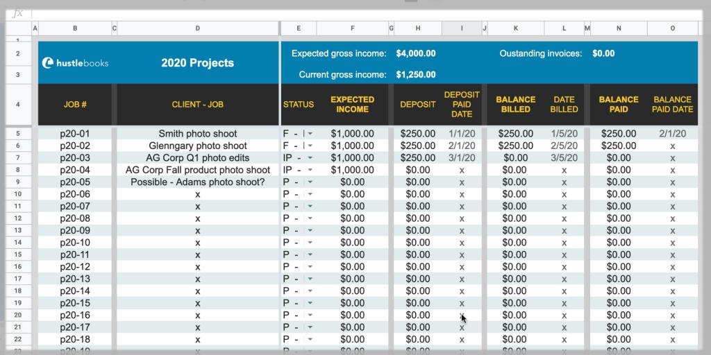 Screenshot - HustleBooks Starter