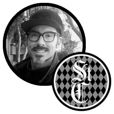 Saint Creative logo and photo of owner