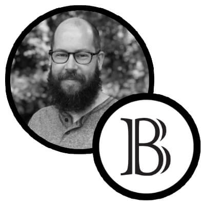 Baker logo and photo of marketing director